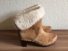 Super UGG Lynnea Damen Stiefel Schuhe Stiefeletten chestnut Gr. 40 Top!