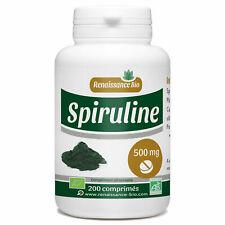 Spiruline Bio 200 Comprimés Dosés à 500 mg Unité Complément Alimentaire Algue FR