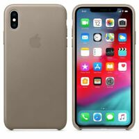 Official Apple Genuine Leather Rear Case Cover for iPhone XS Max - Taupe