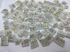 Broken China Mosaic Tiles ~ Gibson Large Cut Picket Fences ~ 84 Pieces