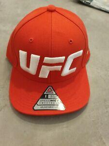 Reebok UFC Logo Ultimate Red Trucker Cap Snapback Hat baseball new