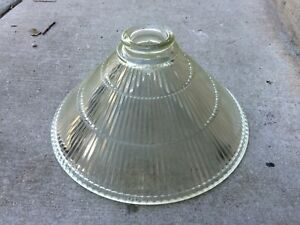 """Contemporary Ribbed Glass Lamp Shade 10"""" w"""