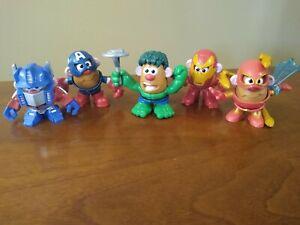 Mini Mr Potato Head Marvel Avengers Mixable Mashable Heroes Lot
