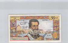 France 50 Nouveau Francs Henri IV 5.11.1959 G.43 n° 0105637791 Pick 143a