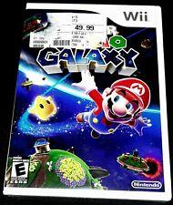 Super Mario Galaxy (Nintendo Wii, 2007) - White Label Edition Y-Folds BRAND NEW