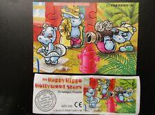 Puzzle HAPPY HIPPO HOLLYWOOD STARS Überraschungseier Kinder Überraschung Ü EI