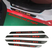 4x Car Front Rear Door Plates Sill Scuff Covers Stickers Carbon Fiber Protectors