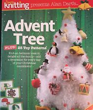 KNITTING PATTERN Alan Dart Advent Tree 25 decorations Santa Penguin Drum PATTERN