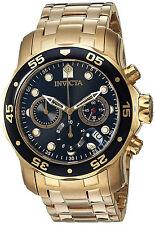 Invicta Reloj Hombre Gold Crystal Bracelet Watch Man Pulsera Hand Arm Steel Oro