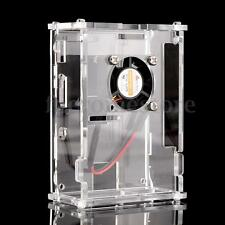 Klar Acrylic Enclosure Case Gehäuse Box m. Fan Lüfter Für Raspberry Pi 3 B 2B B+
