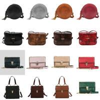 Women's Shoulder Bags Crossbody Messenger PU Leather Handbags Satchel Purse Tote