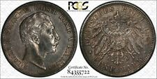 1908-A Prussia Germany 5 Mark World Silver Coin KM #523 PCGS Gold Shield AU 55