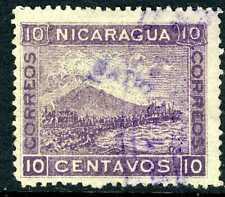 Nicaragua 1904 Cabo 10¢ Violet Momotombo Litho VFU J246 ⭐⭐⭐⭐⭐⭐