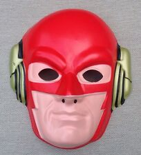 VINTAGE The Flash HALLOWEEN MASK DC Comics Costume Justice League 1990 MINT USA