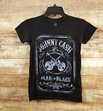"Johnny Cash Womens ""Man in Black"" Size XS Graphic T-shirt Light Sheer"