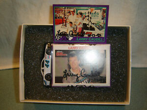 LARRY CAUDILL #44 ARMY 1/64 diecast with DUAL Autographs,& Stat Card NEW IN PKG