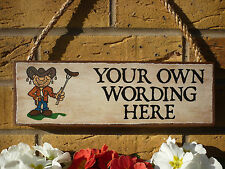 PERSONALISED BBQ SIGN BARBECUE SIGN GARDEN SIGN OWN WORDING OWN NAME SIGN BARBY
