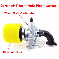 26mm Molkt Carby Air Filter Intake Pipe For 140cc 150cc 160cc SSR Pit Dirt Bike