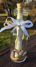 "Message in a Bottle Gift / Favor - 50 ml Glass Bottle w/ Cork 4.25""h 1.5"" diam"