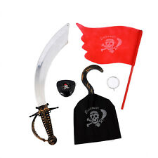 7 Pieces Pirate Makeup Set for Children Costume K6N1