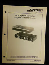 BOSE 802C Original & SMD Version System Controller Service Manual OEM ☆ EXC ☆