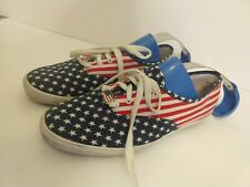 Keds Womens Size 7.5 Sneakers American Flag Red White Blue Star