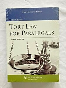 NEW, SEALED: TORT LAW FOR PARALEGALS FOURTH 4TH EDITION ASPEN COLLEGE SERIES C14
