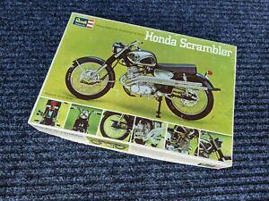 HONDA SCRAMBLER MOTORCYCLE MODEL KIT BY REVELL 1/8 MINT IN BOX ORIGINAL 1967