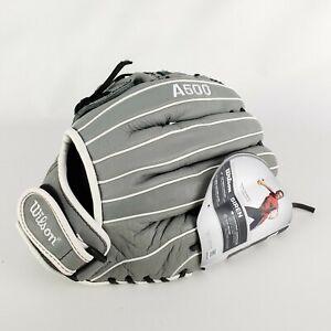 "Wilson A500 Siren Fastpitch Softball Glove 12"" LF Graphite/Grey A05LF1812 Adult"