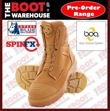 Steel Blue Leather Work & Safety Boots for Men