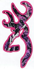 Muddy Girl Camo Browning Buck Decal With Pink Backround  5'' Tall