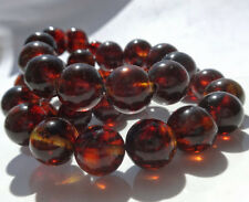 Round Beads Baltic Amber  Necklace  37gr