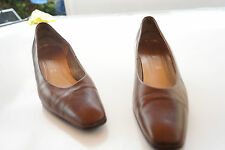 GABOR Damen Schuhe Pumps mit Absatz Gr.5,5 / 39 braun Leder TOP  #42