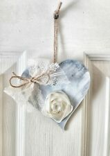Shabby Chic Heart Wall Plaque Wedding Rustic home decor