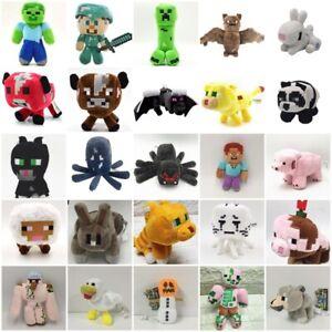 Boys Girl Minecraft Plush Toys Stuffed Animal Soft Plush Kids Birthday Xmas Gift