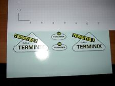 "TONKA TRUCK TERMINEX  DECAL SET  ""BRUCE"""