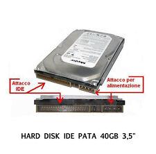 """HARD DISK IDE PATA 3,5"""" 40 GB 40GB WESTERN DIGITAL MAXTOR SEAGATE o SAMSUNG"""