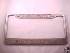 Santa Clara CA Toyota Embossed Metal License Plate Frame Tag Holder