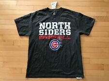 Chicago Cubs Majestic Men's North Siders Baseball T Shirt Sz L Mens  Tee New