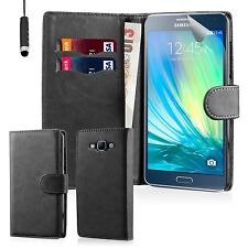PU Leather Flip Wallet Book Case Cover Pouch For Samsung Galaxy Mobile Phones