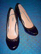 Womens Cato black patent with gold stud trim dress pump - sz 10M - NEW - LQQK