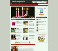 CANDLE MAKERS TIPS AFFILIATE WEBSITE WITH STORE AND BANNERS + NEW DOMAIN