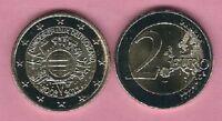 """2 € Sondermünze Deutschland 2012 - 10 Jahre Euro-Bargeld - """"F"""" Stuttgart"""
