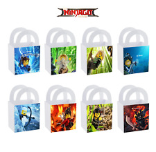 8 LEGO Ninjago Movie Birthday Party Favor Small Bag Goodie Labels Treat Bags