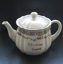 """Vintage Seaside Souvenir """"A Present From WEYMOUTH"""" Teapot - height 5"""""""