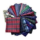 Mens Handkerchief Lot Silk Pocket Square Hanky Wedding Party Suit Hankies