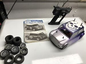 Vintage Rare Tamiya 1/10 RC Rover Mini Cooper M-03 Chassis front wheel
