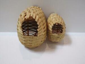 Canary Finch Dove hood hooded nest rattan 1pk 2pk 6pk value packs
