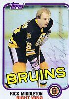 Rick Middleton 1981 Topps Autograph #22 Bruins