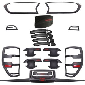 Black Out Accessories Kit For Ford Ranger  - 24 Piece (2018 - 2021)